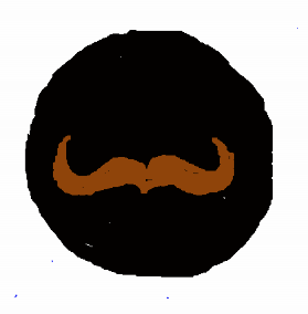This black circle with a handlebar moustache represents everything hipsters like.  Feel free to use it on your website, if you sell kombucha or e-cigarettes.
